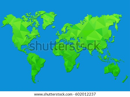 Maps earth world map low poly vectores en stock 602012237 shutterstock maps of the earth world map low poly vector illustration gumiabroncs Images