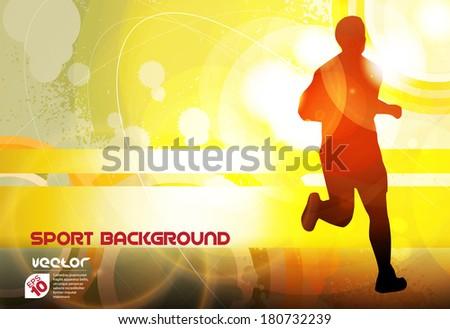 Marathon illustration. Vector  - stock vector