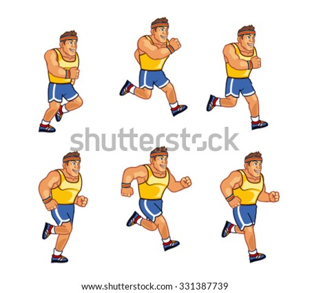 Marathon Runner Sprite - stock vector