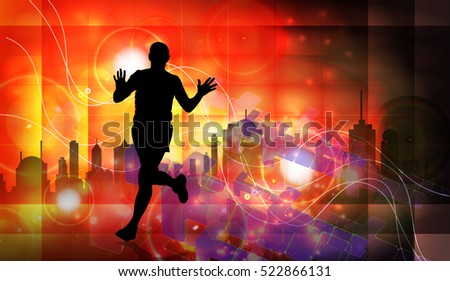 Marathon, sport illustration