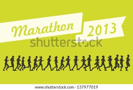 Marathon 2013 vector - stock vector