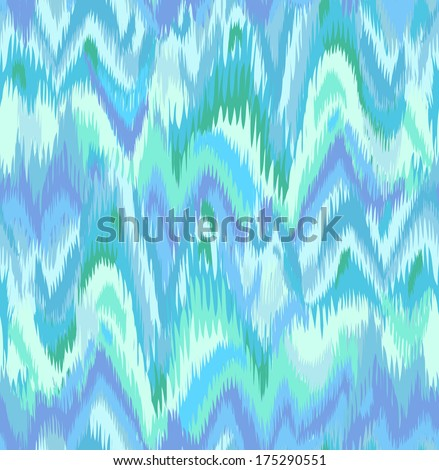 Marble ikat print ~ seamless background - stock vector