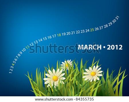 March calendar - stock vector