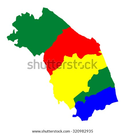 Marche Map Contour Italy Vector Illustration Stock Vector 320791115