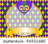 Mardi Gras background design with place for text - stock vector