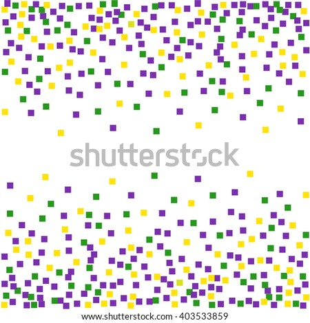 Mardi Gras background with confetti. Vector illustration.