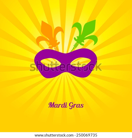 Mardi gras mask. Vector card or invitation design. - stock vector