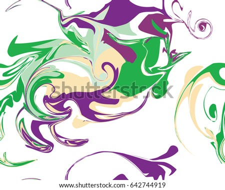 Mardi Gras seamless line marble pattern, Vector illustration. Ideal for wallpaper, patterns, web page background, textiles, holiday greeting cards.