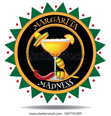 Margarita Icon. EPS 10 vector, grouped for easy editing. No open shapes or paths. - stock vector