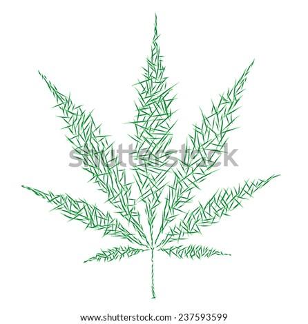 marijuana - stock vector