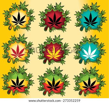 marijuana cannabis leaf vector illustration - stock vector