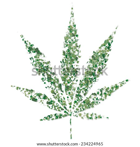 marijuana leaf - stock vector