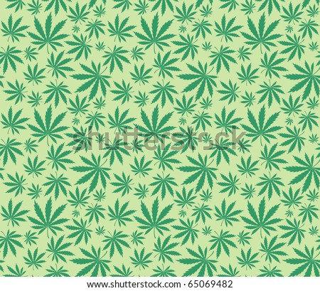 marijuana leaves pattern in vector format very easy to edit - stock vector