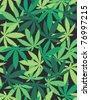 Marijuana Plant - seamless pattern - stock vector