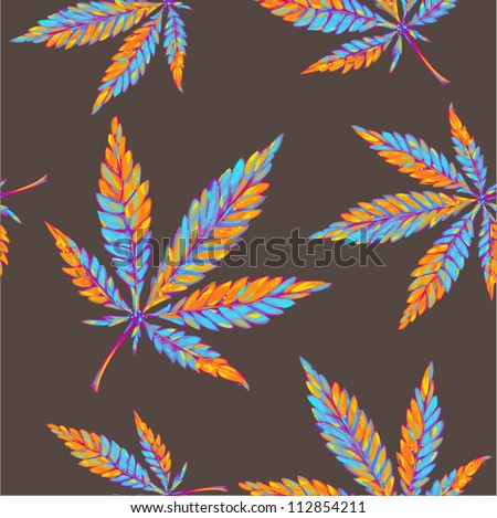 marijuana seamless pattern - stock vector
