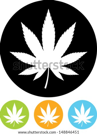Marijuana vector icon isolated - stock vector