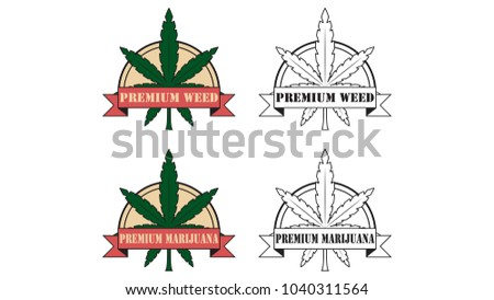 Marijuana Vector Logo Free Space Text Stock Vector 1040311564