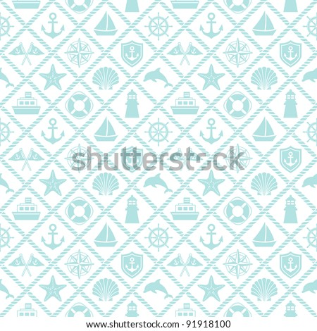 marine background - stock vector