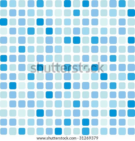 Marine square vector mosaic background - stock vector
