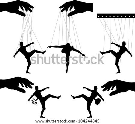 marionettes. third variant. vector illustration - stock vector
