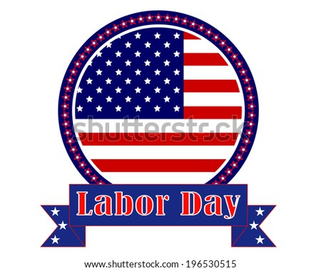 mark Labor Day in America on a white background