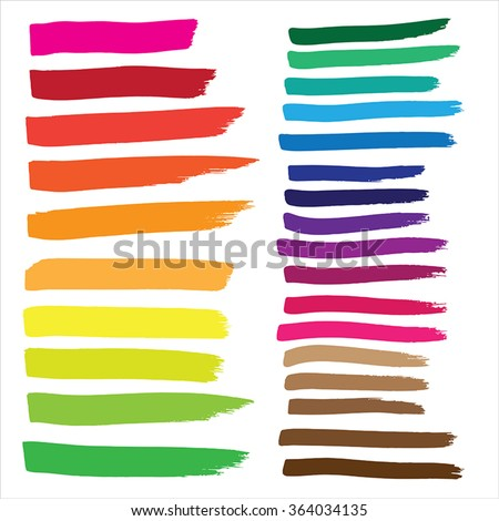 Marker drawing series in Vector Format. Color can be changed by one click - stock vector