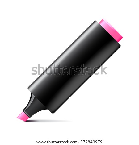 Marker pen isolated on white photo-realistic vector illustration
