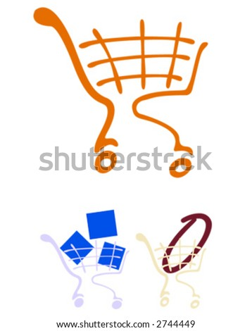 market basket - stock vector