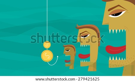 Market Competition - Illustration - stock vector