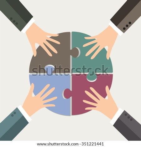 Market Share and jointly own business. - stock vector