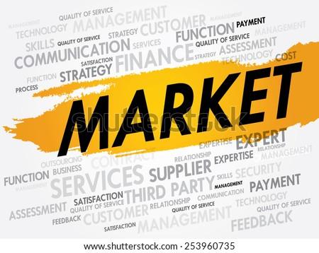 MARKET word cloud, business concept - stock vector
