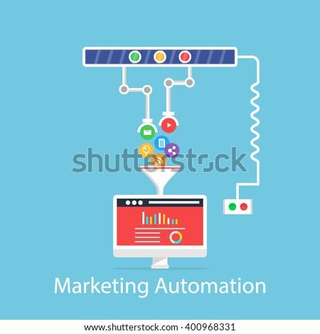 Marketing Automation - stock vector