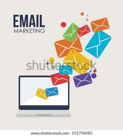 Marketing design over beige background, vector illustration - stock vector