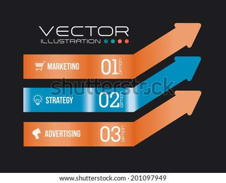 Marketing design over gray background ,vector illustration