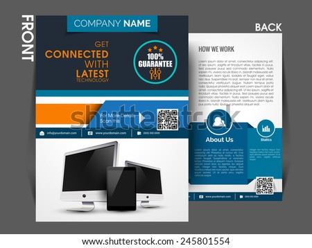 Marketing Flyer Template Eps10 Brochure Magazine Stock Vector