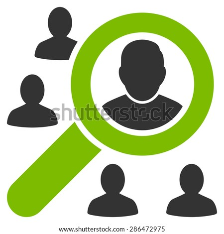 Marketing icon from Business Bicolor Set. Vector style: bicolor flat symbol, eco green and gray colors, rounded angles, white background. - stock vector