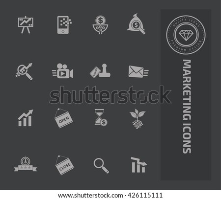 Marketing icon set on clean background,vector