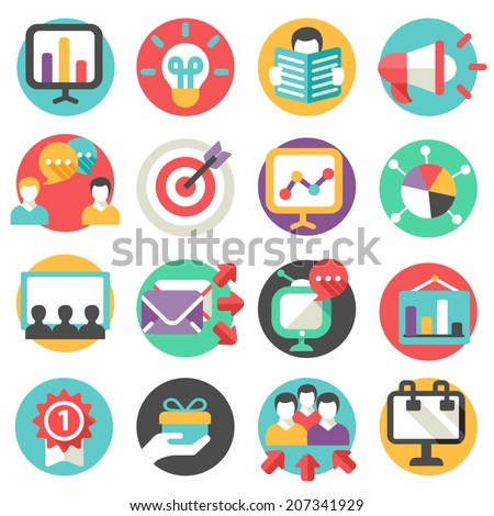 marketing icons - stock vector