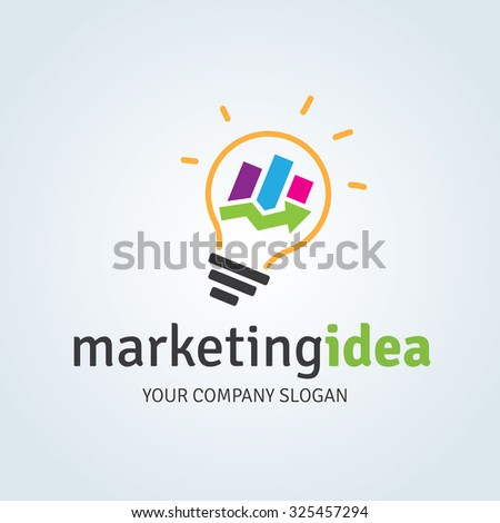 Marketing idea logo template stock vector 325457294 shutterstock marketing idea logo template thecheapjerseys Choice Image