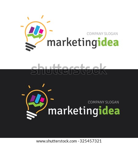 Marketing idea logo template stock vector 325457321 shutterstock marketing idea logo template altavistaventures Choice Image