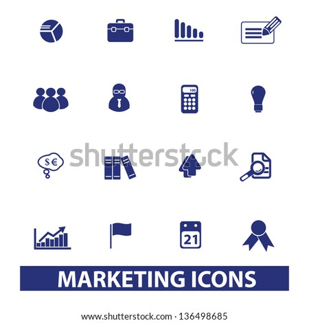 marketing, management, human resources icons, signs set, vector - stock vector
