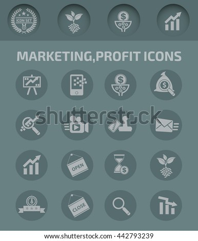 Marketing,profit and business icon,vector