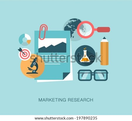 marketing research concept and applications Modern flat design marketing research and creative team concept for e-business, web sites, mobile applications, banners, corporate.