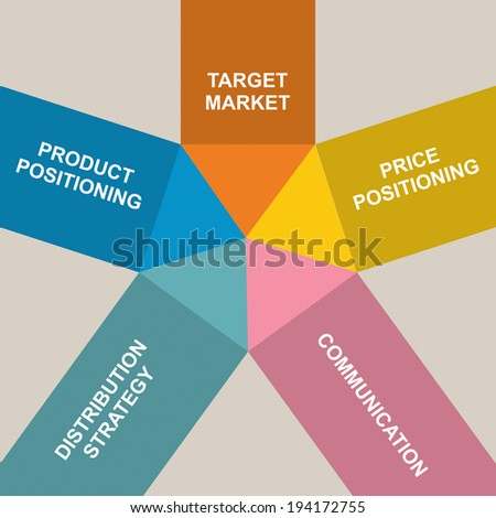 Marketing strategy - flat design abstract color chart  - stock vector