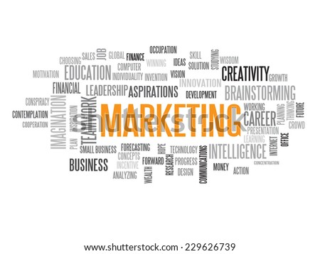 Marketing strategy in 2015 concept word cloud - stock vector