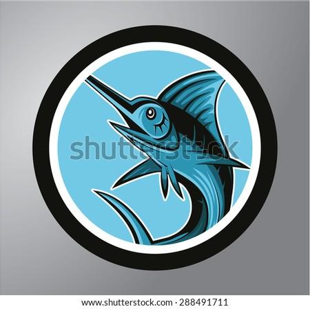 Marlin Fish - stock vector