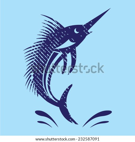 Marlin Sword Fish - stock vector