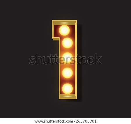 Marquee Light Letter - Vector - 1