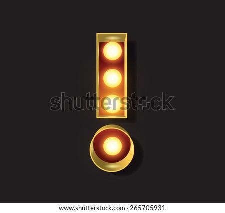 Marquee Light Letter - Vector - ! exclamation mark - stock vector