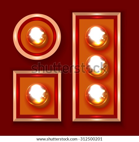 Marquee lights - stock vector